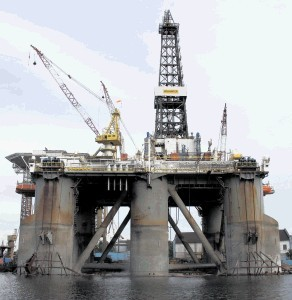 MIGHTY BEAST: North Sea drilling rig Wilhunter