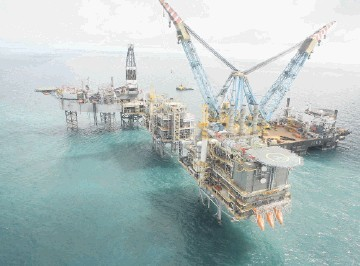 Nexen's Buzzard platform in the central North Sea