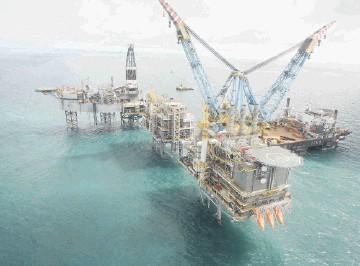 Nexen's Buzzard platform in the central North Sea