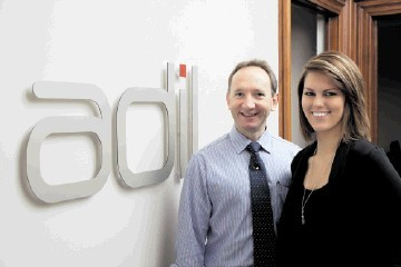 ADIL company director Tim Sibley and student Cara Heller