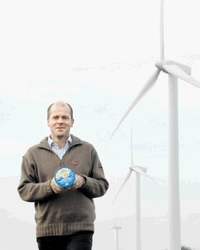 TURNING POINT: Mac Mackie says his company's investment in wind power generation has been hugely successful