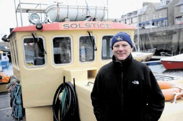 BUSINESS BOOMING: Bill Ruck . . . said  rising demand meant he  had to add a second vessel to his fleet