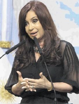 SPAT: Cristina Fernandez de Kirchner . . . accused UK of ratcheting up tension