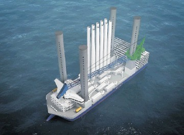 MIGHTY MACHINE: Danish company A2Sea has ordered a further windfarm construction ship