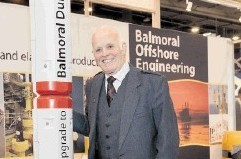 BUOYANT: Jim Milne on the Balmoral stand. Barchfeld Photography