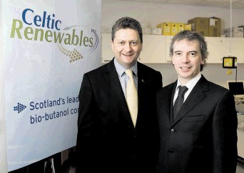 SUSTAINABLE:  Celtic Renewables' chief executive Mark Simmers, left, with scientist Professor Martin Tangney, its founder and chief scientific officer, are tapping into whisky waste for energy