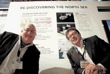PUSHING AHEAD: Nigel Wilson and Simon Lockett of Premier Oil