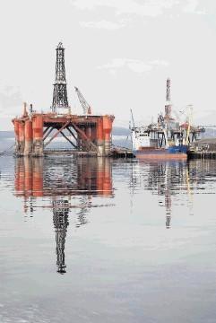 Drilling rig Ocean Guardian at rest