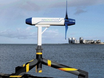 IMPRESSION: What the tidal energy station in Shetland might look like