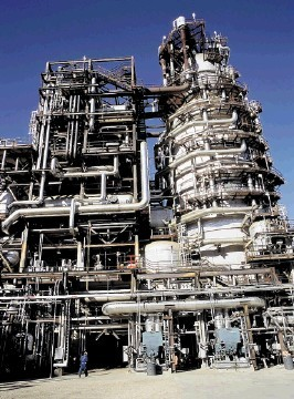 NEW TECHNOLOGY:  The  Scotford Upgrader  processes bitumen from Shell's oil sands mining operations
