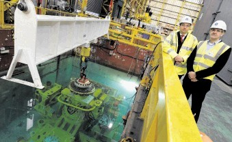 Neil Saunders (left) at the firm's Bridge of Don underwater test centre