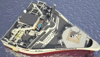 REMARKABLE: The Ramforn Titan class survey vessel, four of which are on order by PGS