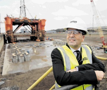 Global  chairman Roy MacGregor at the Nigg Energy Park's dry dock