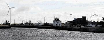 Fraserburgh harbour Wind Turbine Exhibition