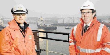 SUCCESSFUL NORTH SEA PARTNERSHIP: Mark Richardson, left, and Ciaran O'Donnell