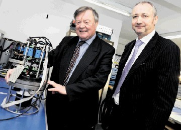 TRADE SUPPORT: Mark Patterson, right,  with UK trade envoy Ken Clarke MP prior to a Brazil mission earlier this year