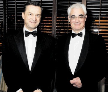 FELLOW SPEAKERS: Jakob Thomasen, left, and Alistair Darling. Colin Rennie