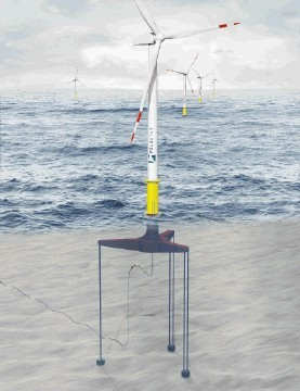 CONTROVERSIAL: A tension-leg floating wind turbine platform has been developed in the US and is to be built at Harland & Wolff, Northern Ireland