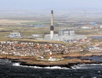 PROTEST: Output from gas-fired Peterhead has been reduced to 25% of normal