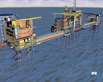 An artist's impression of GDF Suez's Cygnus development in the southern North Sea.