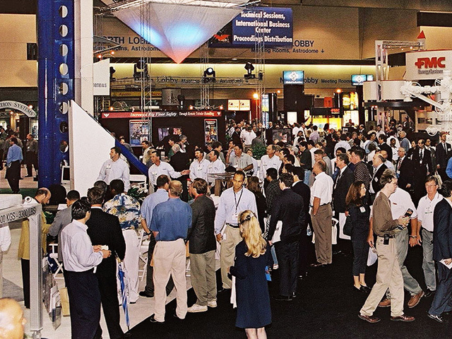 Attendees at the Offshore Technology Conference in Houston.