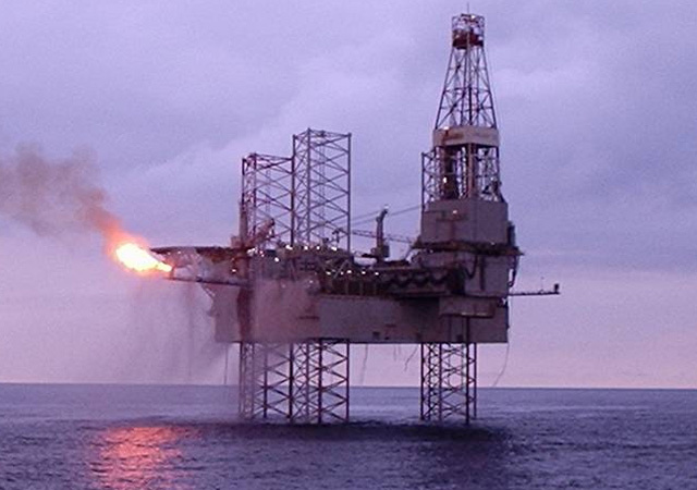 Galaxy II jack-up rig at the Catcher field