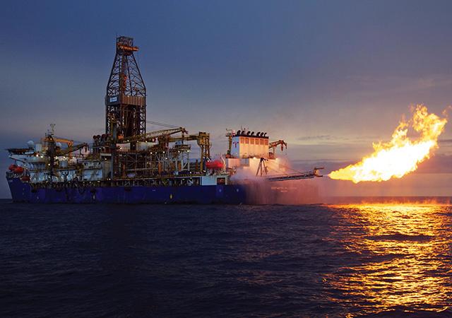 Deepwater Millennium flaring offshore Mozambique