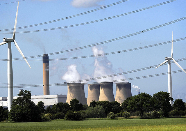 Drax Power Station, the largest coal-fired station in the UK.