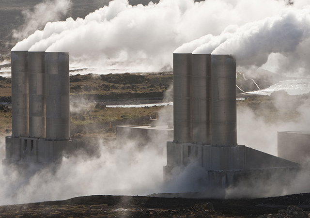 A geothermal power station in Iceland