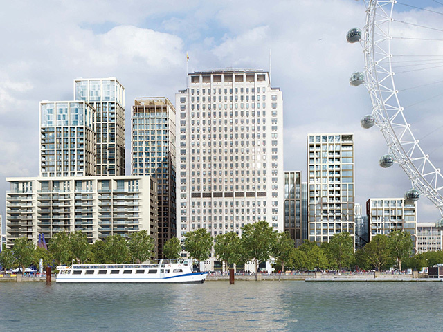 An impression from the developer of how the Shell Centre site will look when completed.
