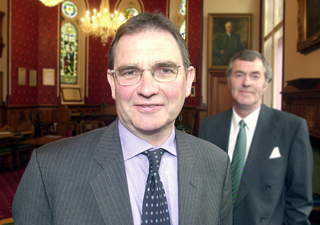 Former energy minister Brian WIlson (front)