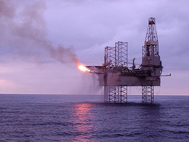 A file photo of the Galaxy II jack-up rig at the Catcher field in the North Sea