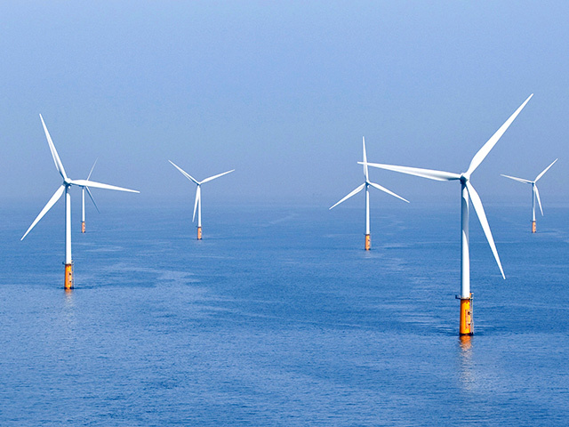 Offshore wind farm.
