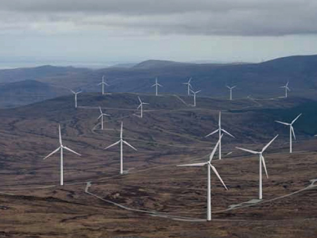 DIFFERENT VIEW: An artist's impression of the Glenmorie windfarm, Sutherland, which drew 120 letters of objection to Highland Council