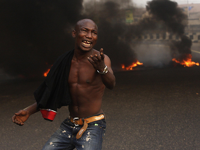 ANGRY PROTESTS: Few of the benefits of oil-rich nations such as Nigeria have trickled down to local people