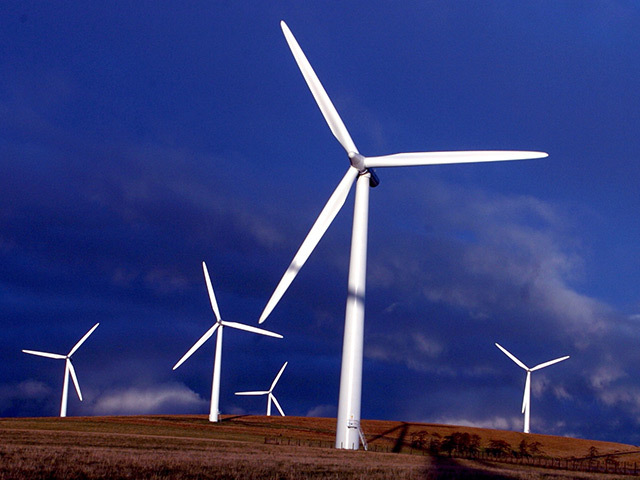 A windfarm near Huntly. Plans for a large-scale farm at Hill of Braco are in doubt.