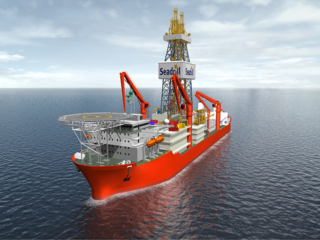 A model of one of Seadrill's existing projects with Samsung - who will also build two of the new vessels.