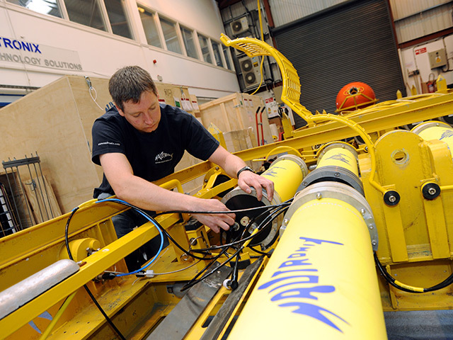 ON THE UP: Senior project engineer Mark Scott works at Nautronix base in Dyce