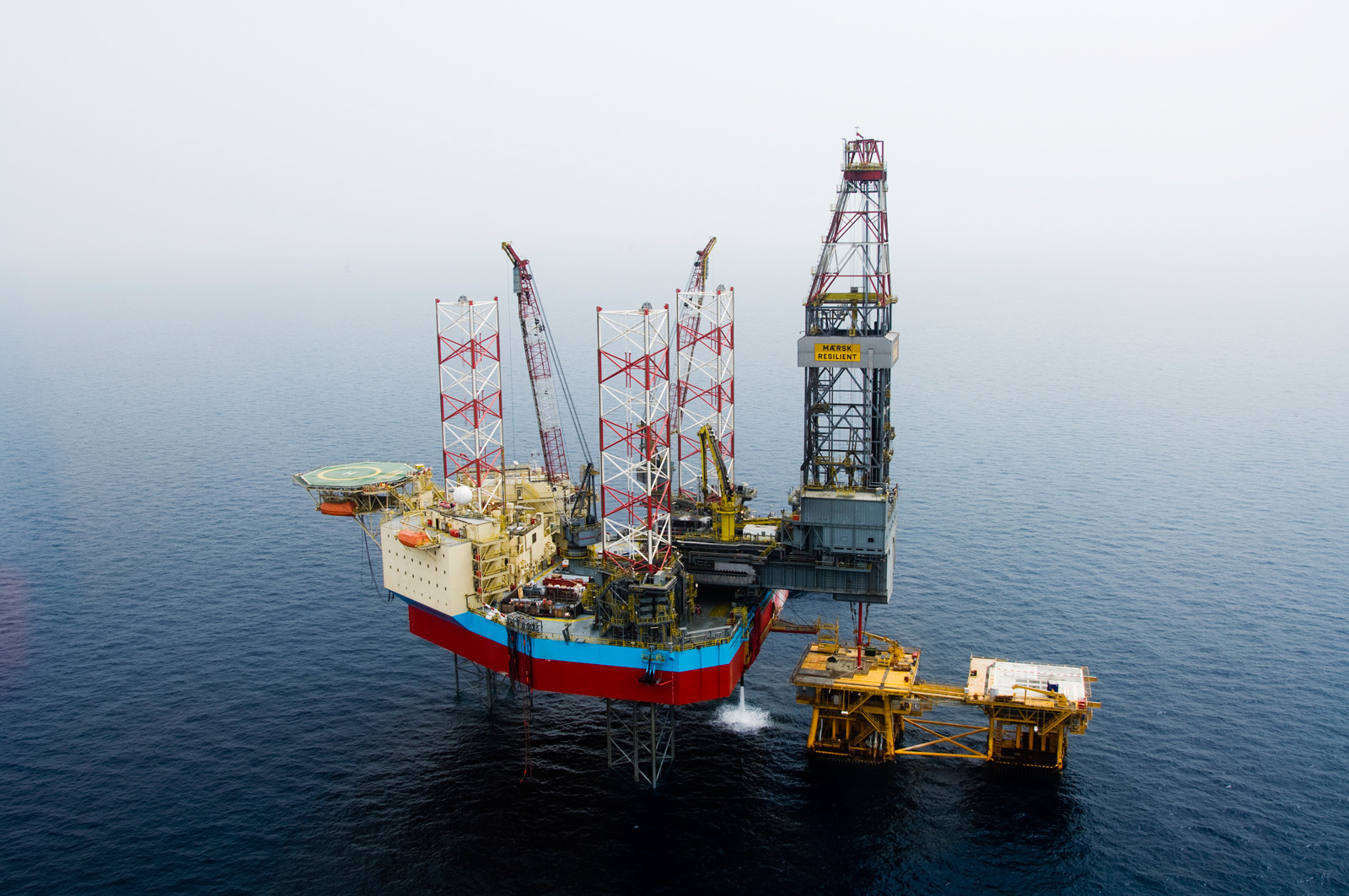 The Maersk Resilient jack-up rig, which was drilling the Lacewing well
