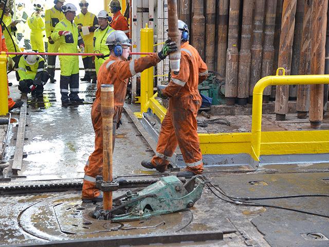 Drilling on Ocean Vanguard
