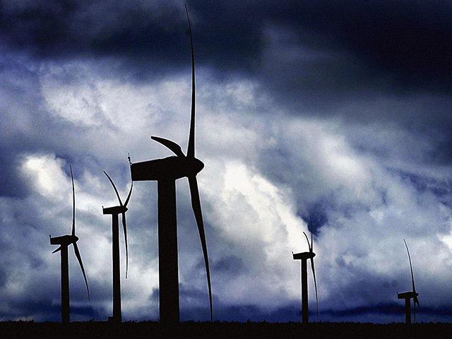 Wind turbines in north Scotland