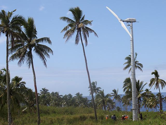 A Gaia-Wind turbine on Tonga