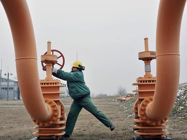 Underground gas storage in the Ukraine.