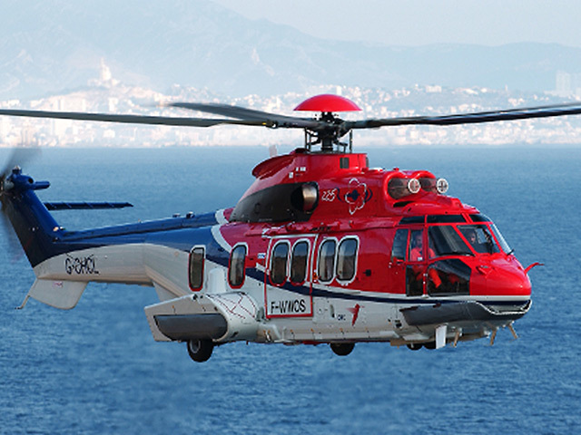 An EC 225 Super Puma Helicopter