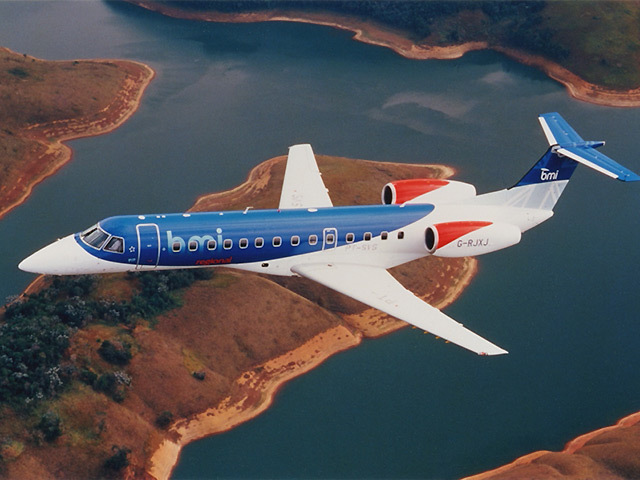 An Embraer 145 jet will fly between the oil and gas hubs