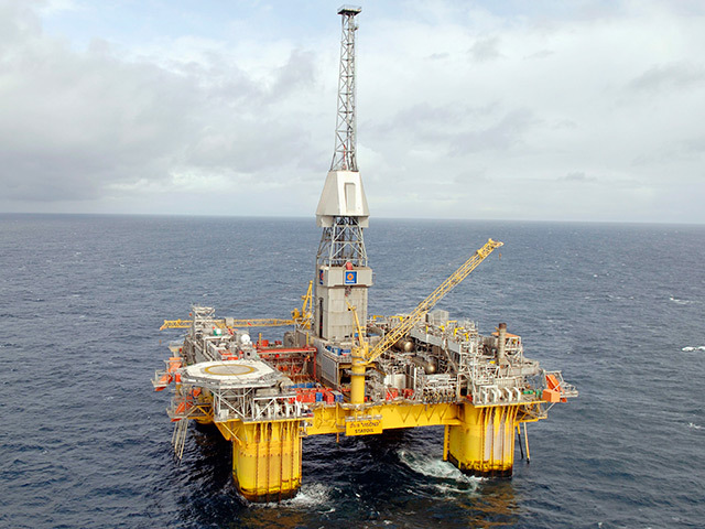 The Visund platform in the North Sea