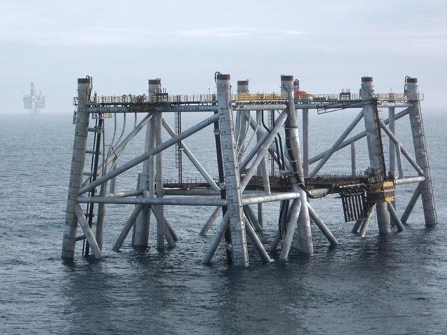 The Clair Ridge platform jackets were installed West of Shetland last month