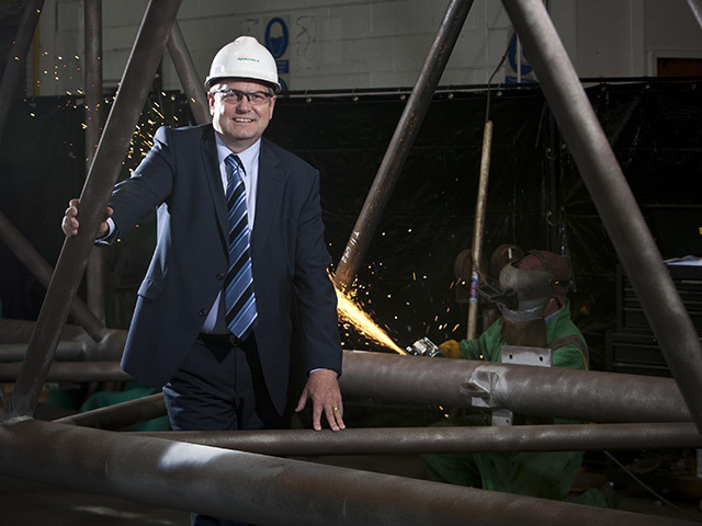 SPARKING OFF: Sparrows chief executive Doug Sedge is looking forward to increased profits this year after winning new contracts