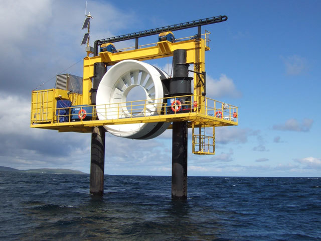 OpenHydro tidal device, Orkney