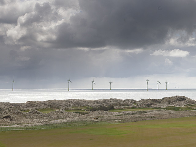 Artist's impression of the EOWDC turbines offshore
